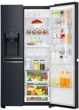 LG GSJ 961 MTAZ A++ Side-by-Side Kombination, Eis-, Crushed Ice- und Wasserspender, Door-in-Door™, Matt Black Steel