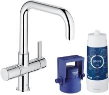 Grohe Blue Pure Starter Kit, mit Filter, bis 180° schwenkbar, chrom (31299001)