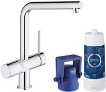 Grohe Blue Minta Pure Starter Kit, mit Filter, bis 180° schwenkbar, supersteel (31345002)