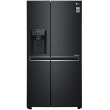 LG GSL761MCZZ Side-by-Side Kombination, 91,2 cm breit, 625L,  DoorCooling+, Eis- Crushed Ice-und Wasserspender, Matt Black Steel