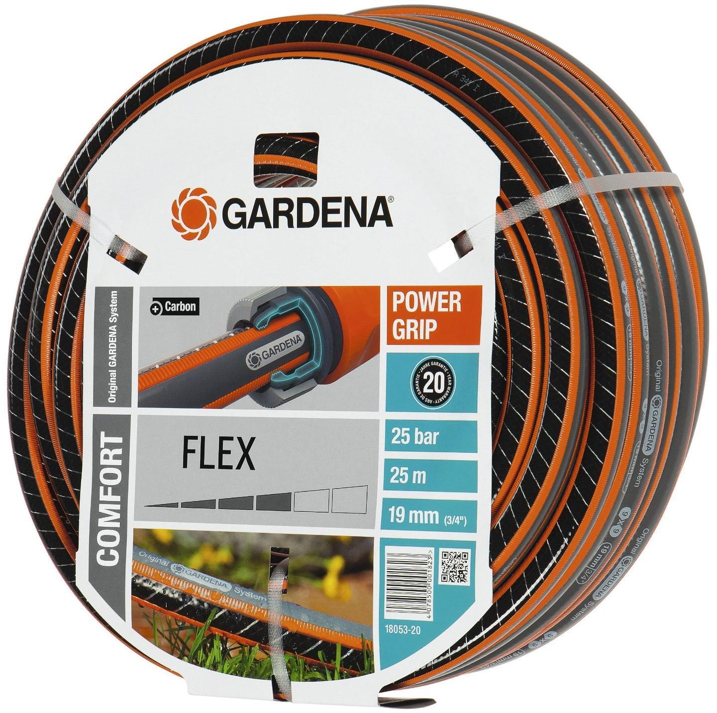 comfort flex schlauch gardena 18053 20 19 mm 3 4 25m von gardena bei elektroshop wagner. Black Bedroom Furniture Sets. Home Design Ideas