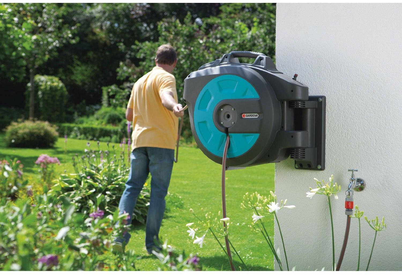gardena 8024 20 wand schlauchbox 35 roll up automatic von gardena gartenger te bei elektroshop. Black Bedroom Furniture Sets. Home Design Ideas