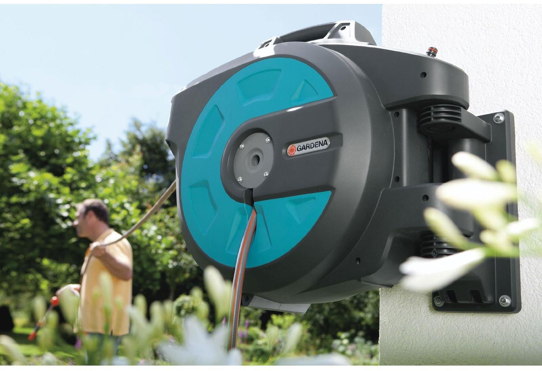 gardena 8024 20 wand schlauchbox 35 roll up automatic von. Black Bedroom Furniture Sets. Home Design Ideas