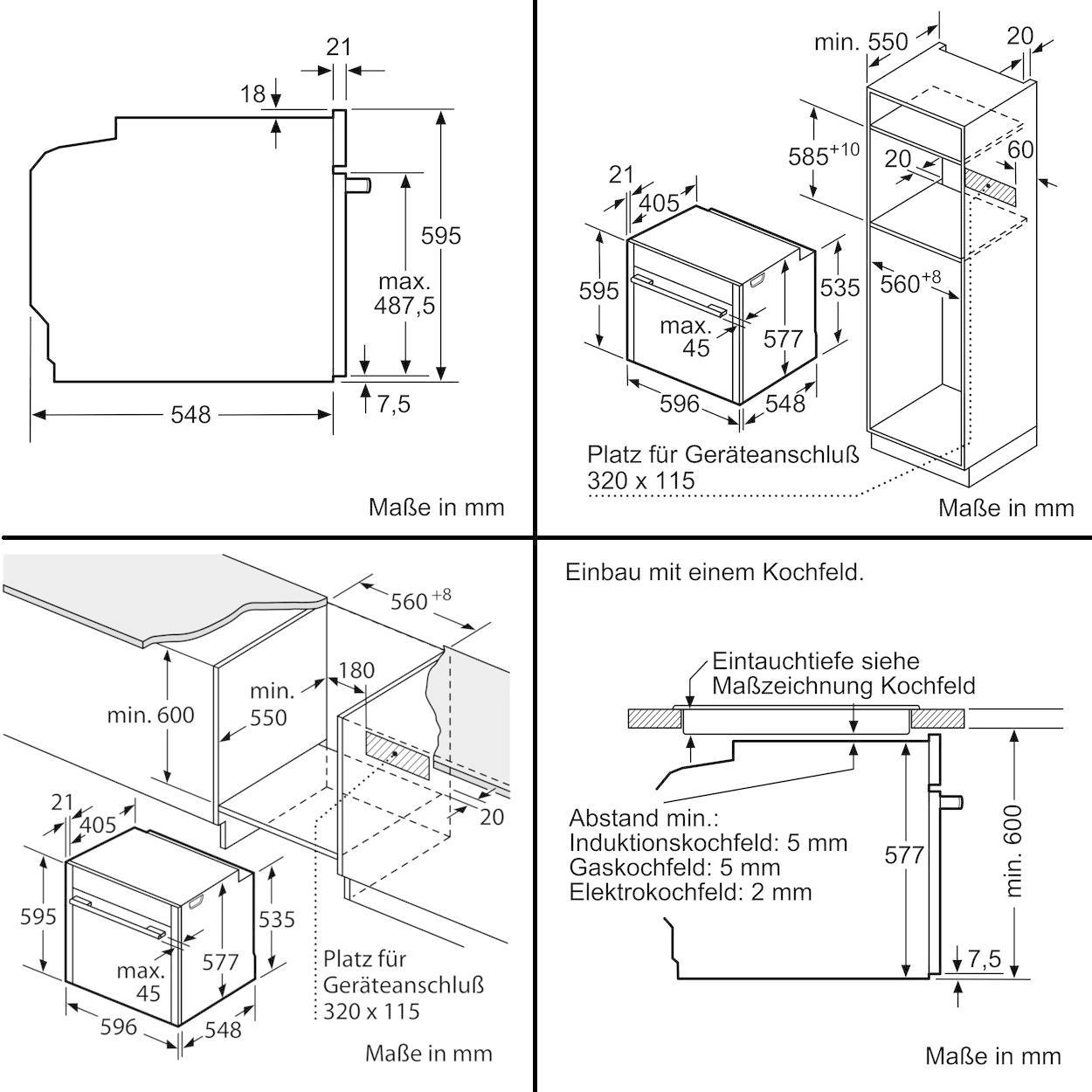 neff bct5664n eek a einbau backofen 71 l 56cm breit sensor tasten edelstahl von neff bei. Black Bedroom Furniture Sets. Home Design Ideas