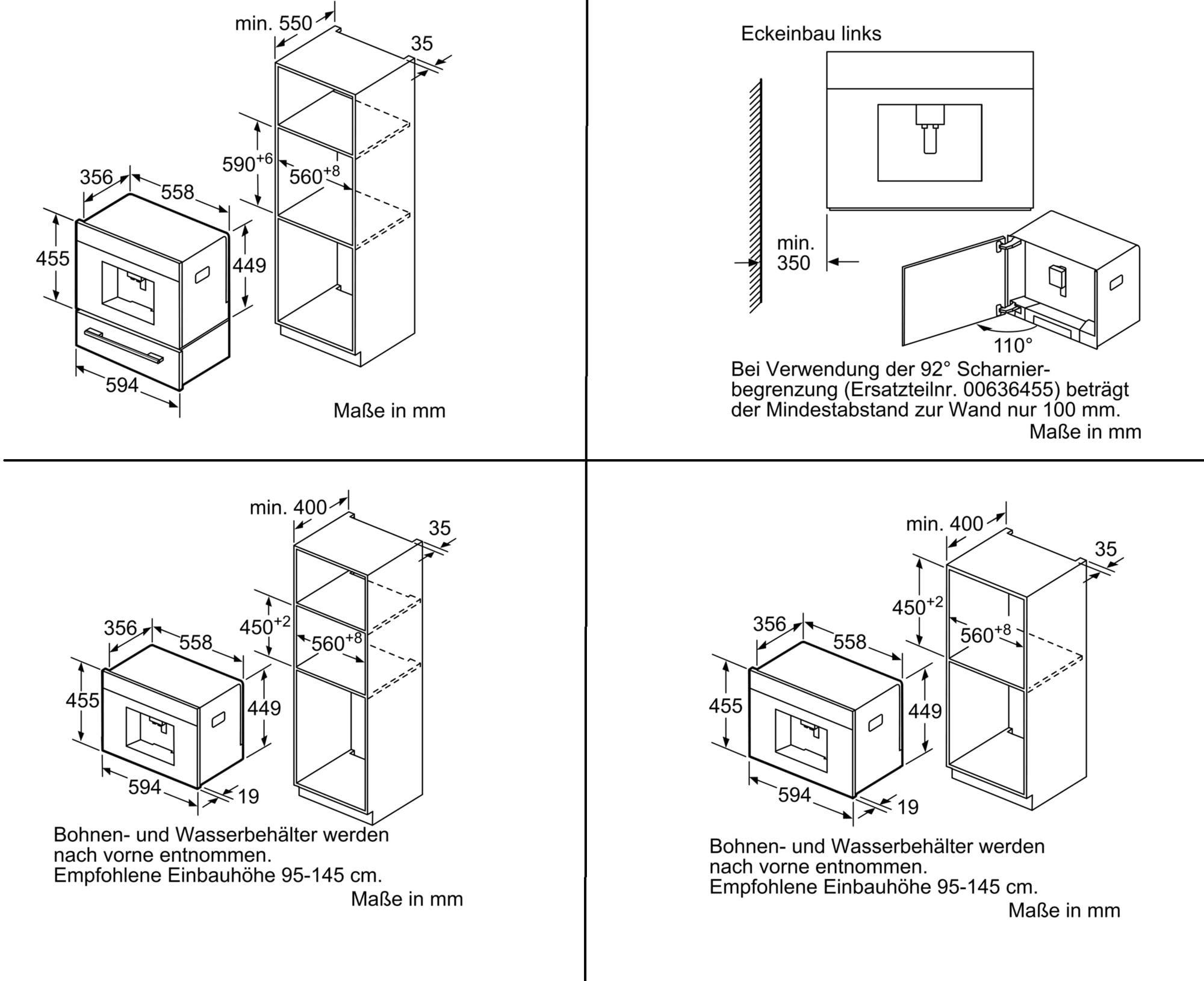 bosch ctl636es6 einbau kaffeevollautomat home connect. Black Bedroom Furniture Sets. Home Design Ideas