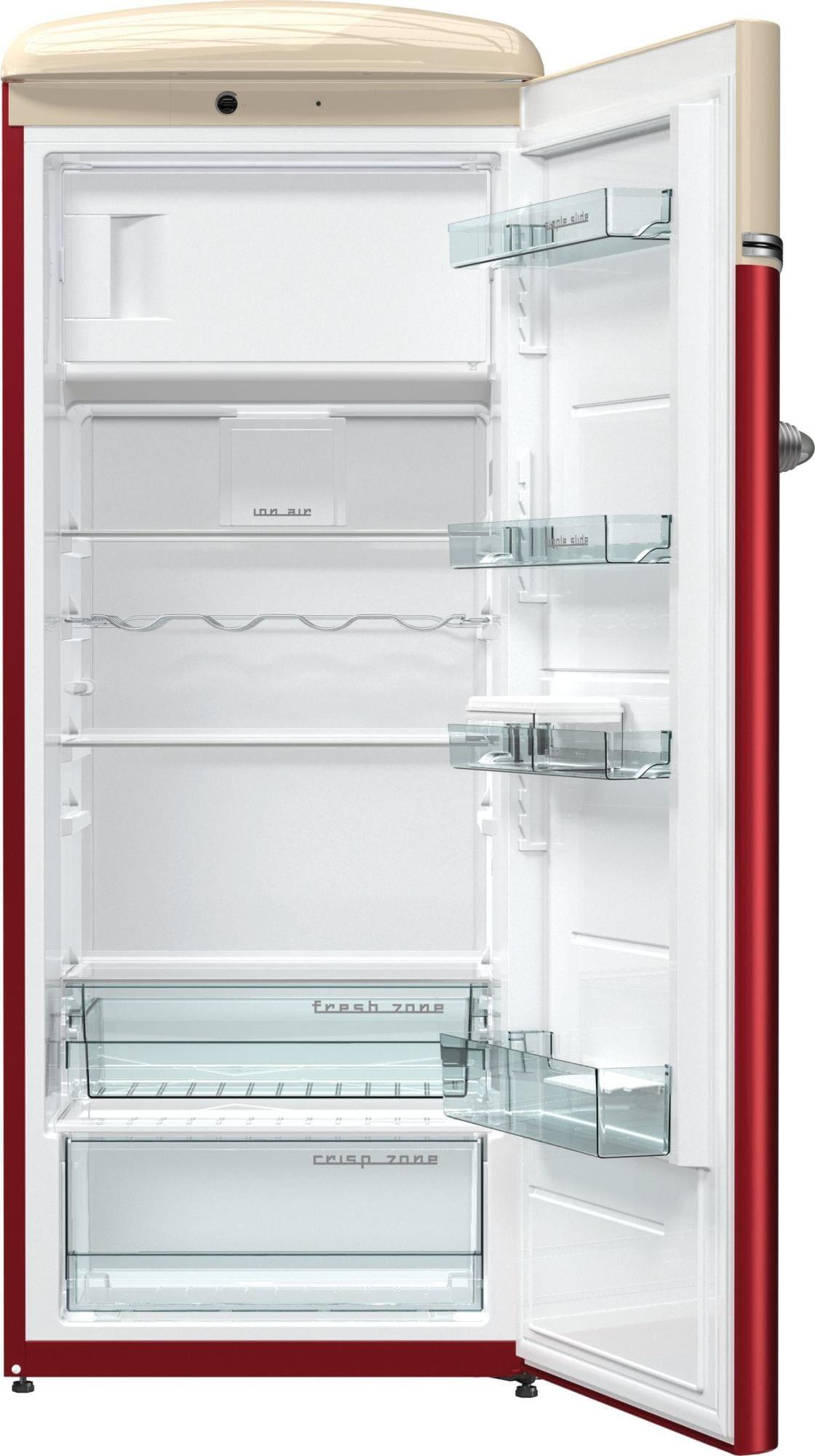 Gorenje OBRB153R Retro Special Edition A+++ Kühlschrank, rot/beige ...