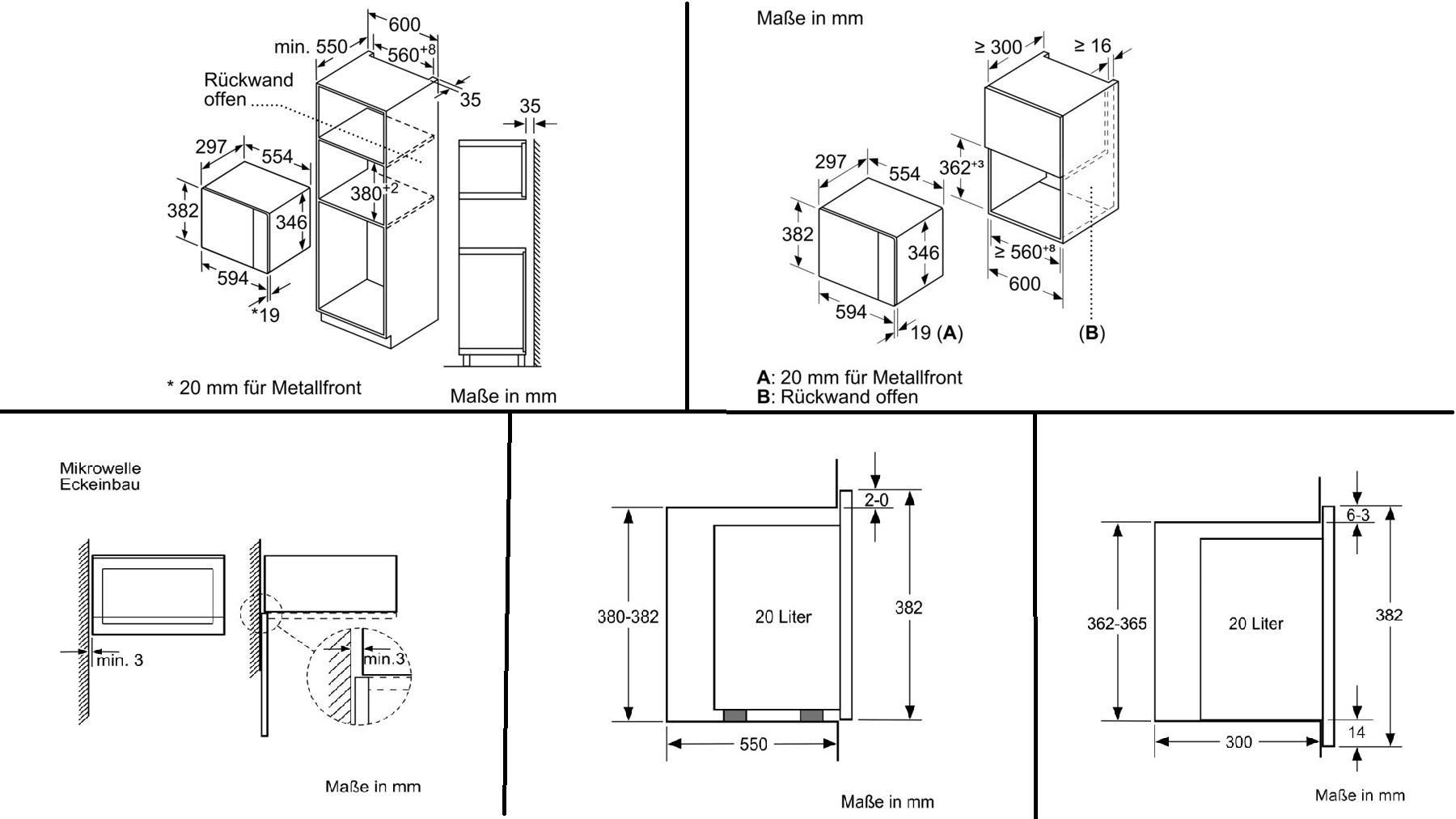 NEFF HLAWD23N0 Einbau Mikrowelle